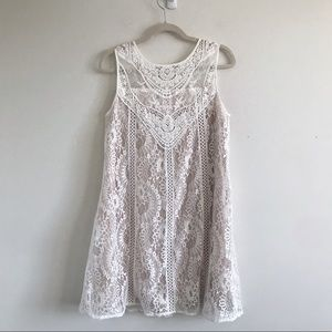 Altar'd State | White Eyelet Lace Sleeveless Dress